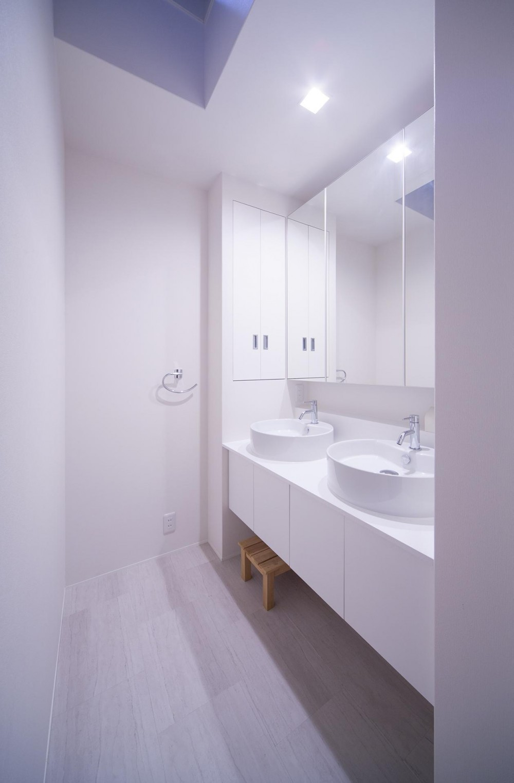 I3-house 「丘の上にある造形」 (洗面室)