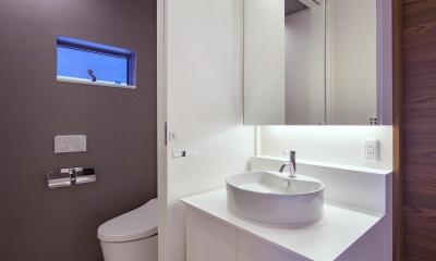 I3-house 「丘の上にある造形」 (洗面室・トイレ)