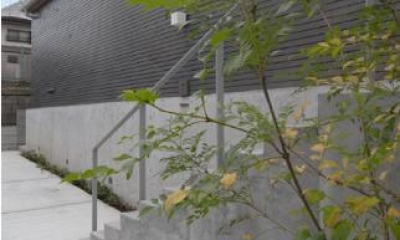 Dormer Hut (アプローチ階段)
