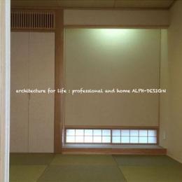 琉球畳を敷き詰めた和室 (Kawakuchi-House)