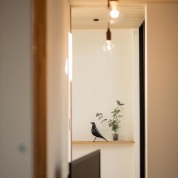 平屋・回廊の家 (飾り棚)
