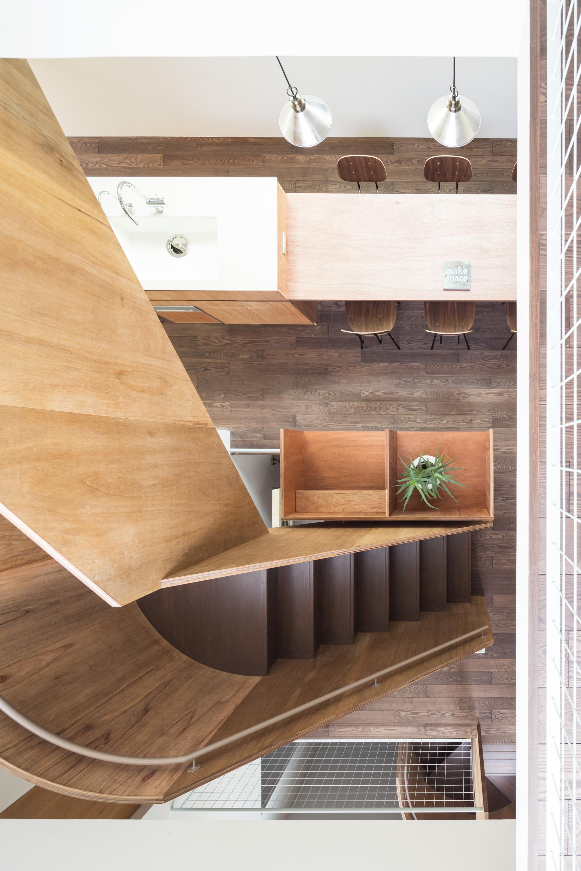 板橋の立体住居の部屋 ダイニングキッチンを上から見る