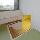床下収納へ繋がる小上がり和室