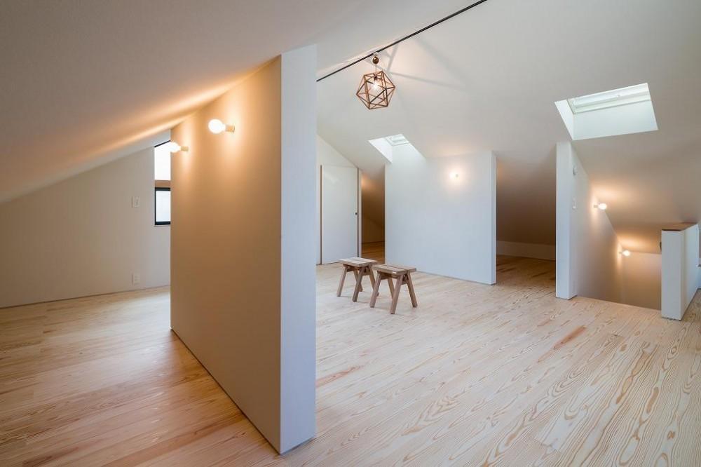 空を囲む家 (天窓と仕切り壁のある屋根裏 1)
