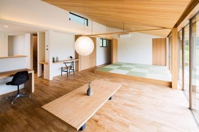 畳スペースのあるLDK (自然の恵みを感じる家)