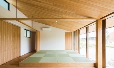琉球畳を敷いた畳スペース|自然の恵みを感じる家