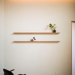 緩やかに囲む家 (飾り棚のある空間)