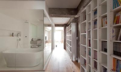一度は都心に住みたい 南青山リノベーション (IKEAを使ったライブラリー)