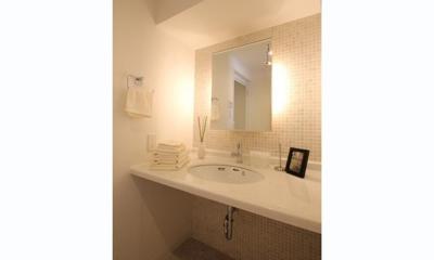 洗面室|メゾネットタイプを素敵リノベーション