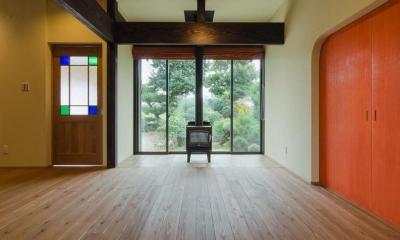『黒瀬の家』 赤瓦の日本家屋リノベーション (LDK)
