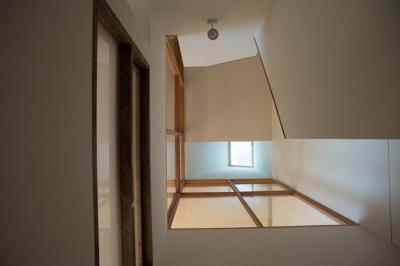 階段 (玄関を共有する二世帯のリノベーション:『青葉区の二世帯住宅』)