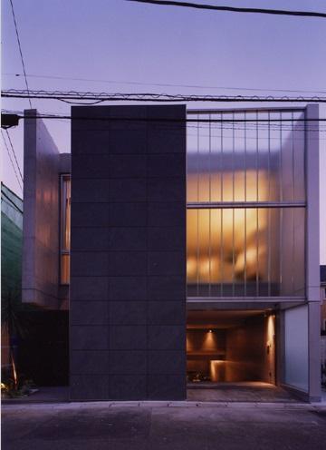 宮前の家の部屋 コンクリート打放しの外観