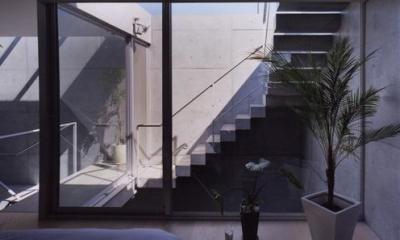 宮前の家 (外に繋がる階段)