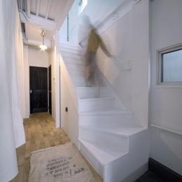 4LAYER (玄関から見る廊下・階段)