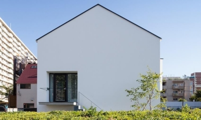 中庭のあるスキップフロアの家・OUCHI-32 (外観)