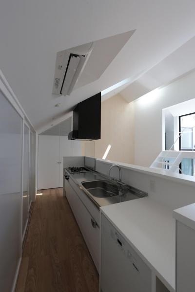 中庭のあるスキップフロアの家・OUCHI-32 (キッチン)