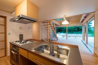 キッチン (8匹の猫と姉妹の暮らす家~のび工房~)