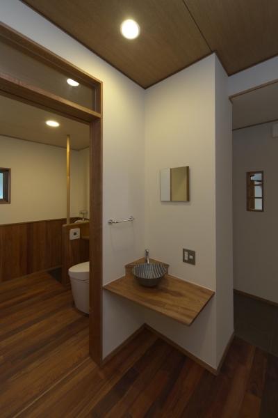 手洗い (豊浦町の家/古民家再生)