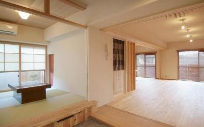 久留米の家/マンションリフォーム (リビング)