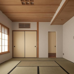土間空間のある家−築80年の民家再生− (2階寝室)
