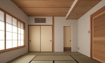 次世代に引き継ぐ家 −世田谷の民家再生− (2階寝室)