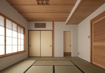 2階寝室 (土間空間のある家−築80年の民家再生−)