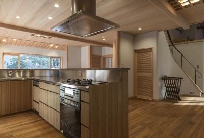 土間空間のある家−築80年の民家再生− (オーダーキッチン)
