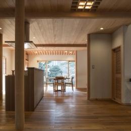 土間空間のある家−築80年の民家再生− (キッチンダイニング)