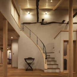 土間空間のある家−築80年の民家再生− (階段)