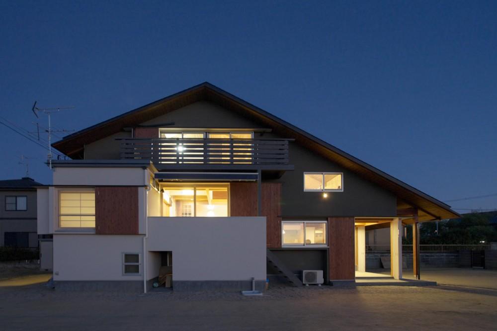 津屋崎の家 (夜景)