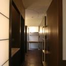 洗面台のある廊下