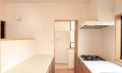 田端の家(お茶室と防音室のある2世帯住宅) (1階、親世帯のキッチン)