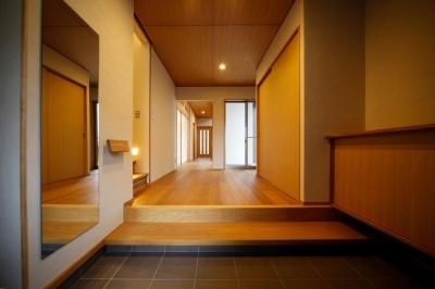 玄関 (西新の家)