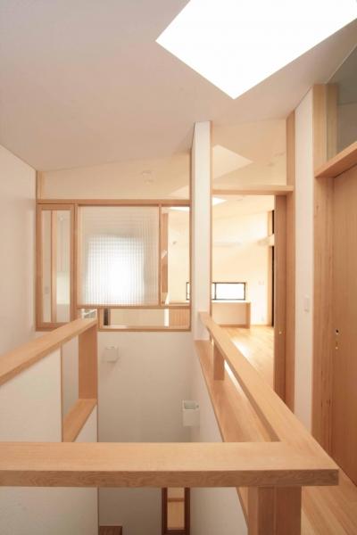 階段室 (田端の家(お茶室と防音室のある2世帯住宅))