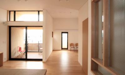 田端の家(お茶室と防音室のある2世帯住宅) (2階、子世帯のリビング、ダイニング)
