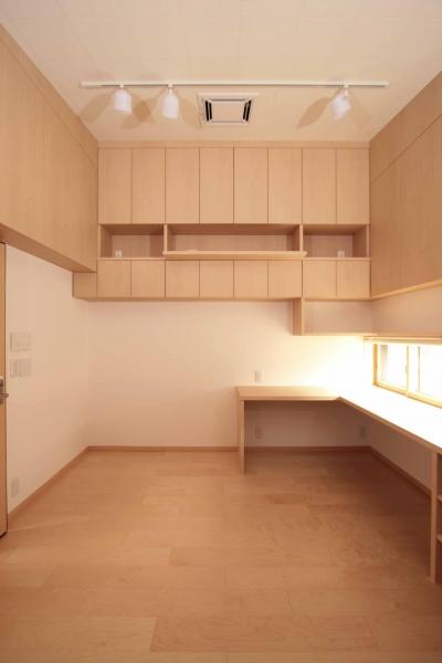 防音室(音楽練習室兼書斎) (田端の家(お茶室と防音室のある2世帯住宅))