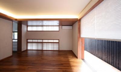 吉祥寺の家(和テイストの家) (リビング・ダイニング(東面))