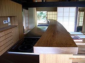 小木津の民家再生の部屋 オリジナルキッチン