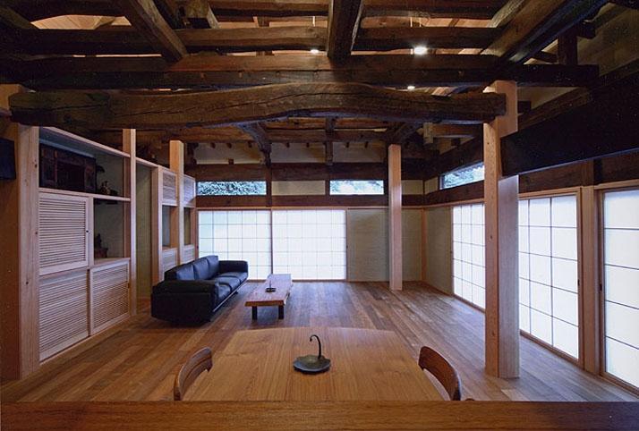 小木津の民家再生の部屋 リビング
