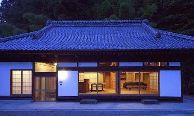 茨城の民家再生 (南夜景)