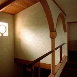 世田谷の事務所併用住宅 ー伽留羅(カルラ)ー (2階吹抜け)