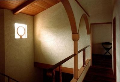 2階吹抜け (伽留羅ー世田谷の事務所併用住宅)