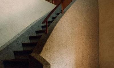 世田谷の事務所併用住宅 ー伽留羅(カルラ)ー (玄関ホールと階段)