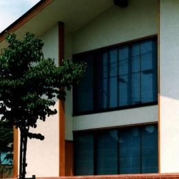 世田谷の事務所併用住宅 ー伽留羅(カルラ)ー (南道路側外観)