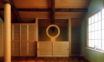 岡谷の民家再生 (入口部分)