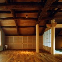 岡谷の民家再生 (居間と座敷)