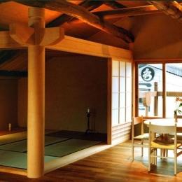 岡谷の民家再生 (座敷と食堂)