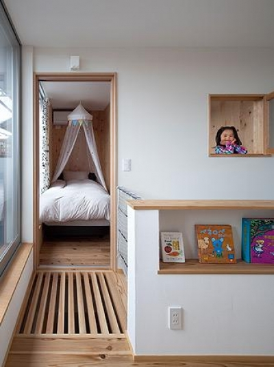 吉之丸の家 (室内窓のある部屋・2階ホール)