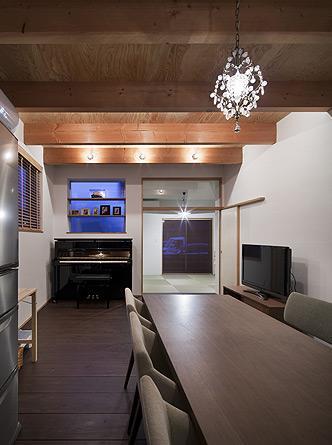 吉之丸の家の写真 和室と繋がりのあるダイニング 2