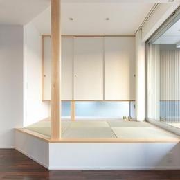琉球畳を敷いた小上がりの畳スペース